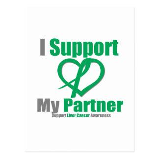 Liver CancerI Support My Partner Postcard