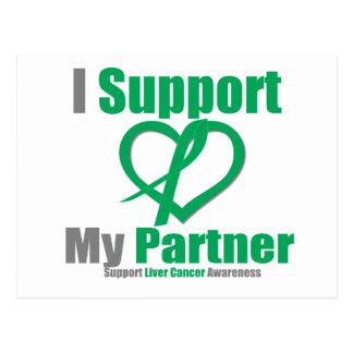 Liver CancerI Support My Partner Postcards