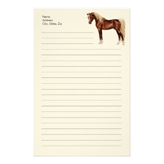 Liver Chestnut Flaxen Mane Tail Egyptian Arabian Stationery