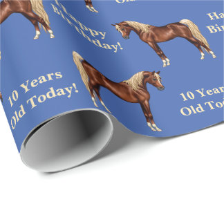 Liver Chestnut Flaxen Mane Tail Egyptian Arabian Wrapping Paper