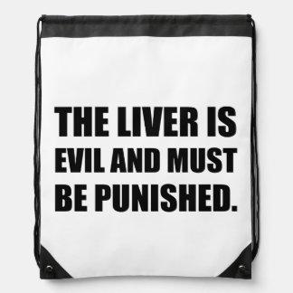 Liver Evil Must Be Punished Drawstring Bag