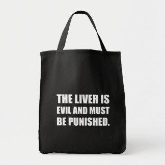 Liver Evil Must Be Punished Tote Bag