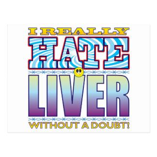 Liver Hate Face Postcard