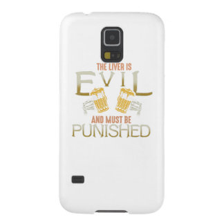 Liver is evil beer with bones biker style shirt cases for galaxy s5