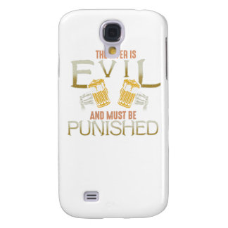 Liver is evil beer with bones biker style shirt galaxy s4 cover