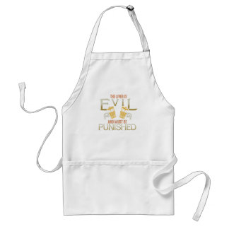 Liver is evil beer with bones biker style shirt standard apron