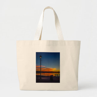 Liverpool Bay Sunset Large Tote Bag