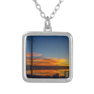 Liverpool Bay Sunset Silver Plated Necklace
