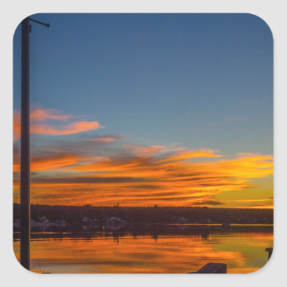 Liverpool Bay Sunset Square Sticker