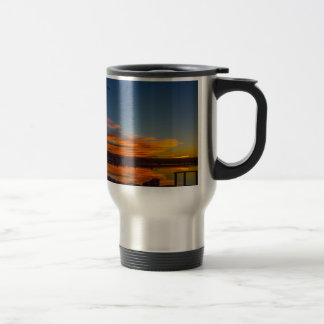Liverpool Bay Sunset Travel Mug