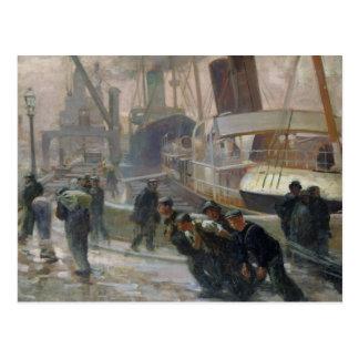 Liverpool Dockers at Dawn, 1903 Postcard