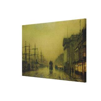 Liverpool Docks Customs House and Salthouse Docks, Canvas Print