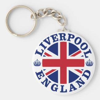 Liverpool England British Flag Roundel Keychains