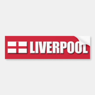 Liverpool England Flag Bumper Sticker