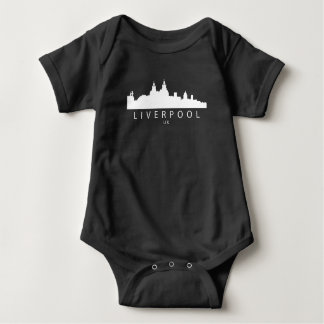 Liverpool England UK Skyline Baby Bodysuit