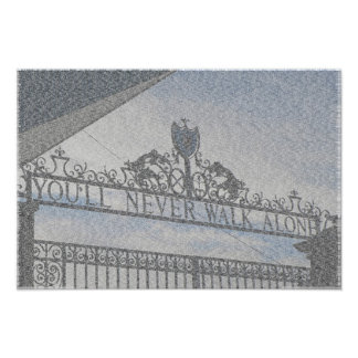 Liverpool FC's Anfield Gates Poster