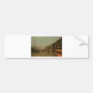 Liverpool from Wapping by John Atkinson Grimshaw Bumper Sticker