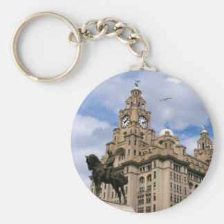 Liverpool - Liver Building Basic Round Button Key Ring