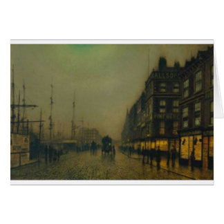 Liverpool Quay by Moonlight by John Atkinson Grims Card