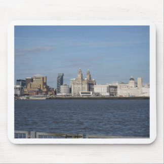 Liverpool Skyline from the Mersey Mouse Pad