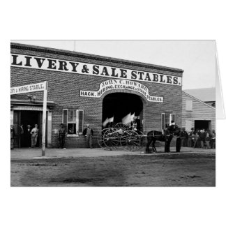 Livery Stable, 1865 Card