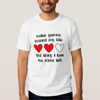 Lives Left Funny T-Shirt Humor
