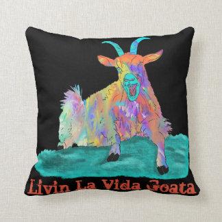 Livin La Vida Goata Funny Screaming Goat Design Cushion