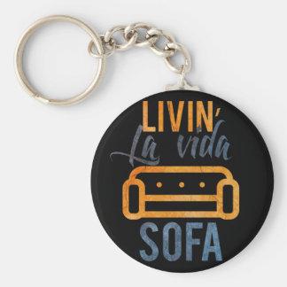 Livin' la vida sofa key ring