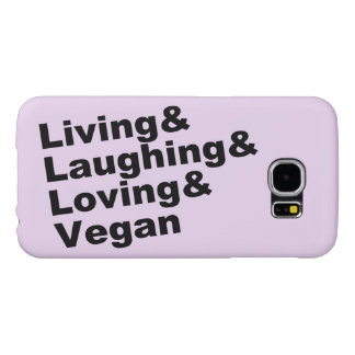 Living and Laughing and Loving and Vegan (blk)