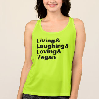 Living and Laughing and Loving and Vegan (blk) Singlet