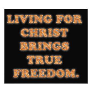 Living For Christ Brings True Freedom. Art Photo