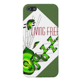 Living free with jazz iPhone 5/5S case