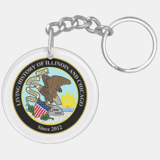 Living History of Illinois and Chicago® Group Double-Sided Round Acrylic Key Ring