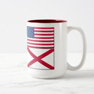 Living In AL, 15oz Two-Tone Mug