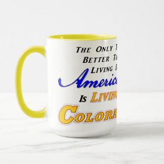 Living In Colorado! 15 oz Combo Mug