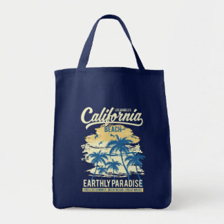 Living in Paradise Endless Summer California Beach Tote Bag