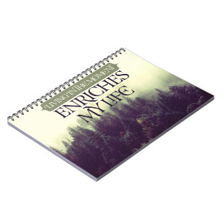 Living In The Moment by Robert Frost Notebook