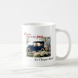 living in the past 1924 1925 coffee mug