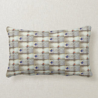 """""""LIVING LAKE STYLE"""" PILLOW WITH BLUE BACK"""