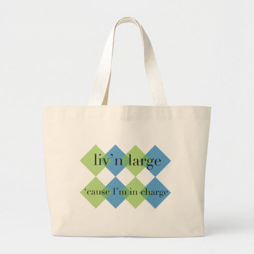 Living Large Canvas Bag