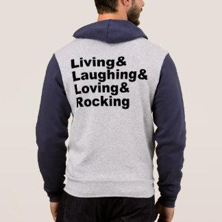 Living&Laughing&Loving&ROCKING (blk) Hoodie