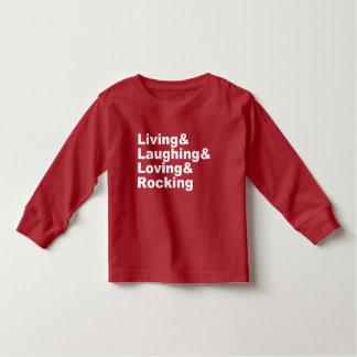 Living&Laughing&Loving&ROCKING (wht) Toddler T-Shirt