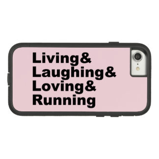 Living&Laughing&Loving&RUNNING (blk) Case-Mate Tough Extreme iPhone 8/7 Case