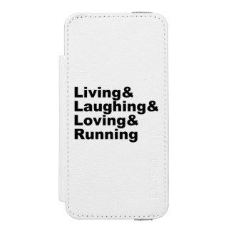 Living&Laughing&Loving&RUNNING (blk) Incipio Watson™ iPhone 5 Wallet Case