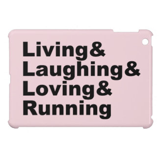 Living&Laughing&Loving&RUNNING (blk) iPad Mini Covers
