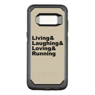 Living&Laughing&Loving&RUNNING (blk) OtterBox Commuter Samsung Galaxy S8 Case