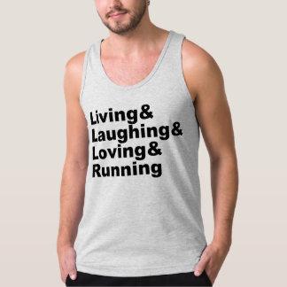 Living&Laughing&Loving&RUNNING (blk) Singlet