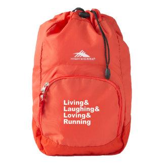 Living&Laughing&Loving&RUNNING (wht) Backpack