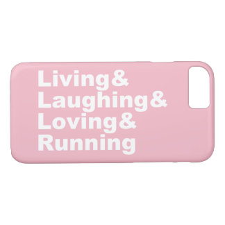 Living&Laughing&Loving&RUNNING (wht) iPhone 8/7 Case