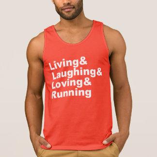 Living&Laughing&Loving&RUNNING (wht) Singlet